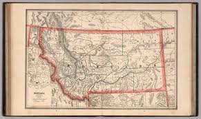 Map Of Montana State by Montana