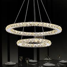 Modern Bedroom Chandeliers Modern Ring Crystal Contemporary Chandelier Lustre Cristal K9 High