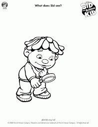free science coloring pages sid the science kid coloring pages coloring home