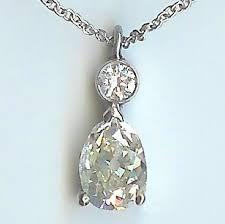 vintage diamond pendant necklace images Spine tingling 2 stone diamond pendant chain sh8024 jpg