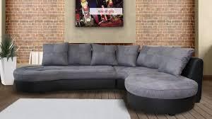 canapé d angle bi matière stephane