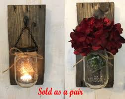Wall Mounted Candle Sconce Candle Holders Rustic Candle Holders Candles Mason Jar