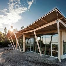 hemso restaurant built from natural materials at swedish unesco
