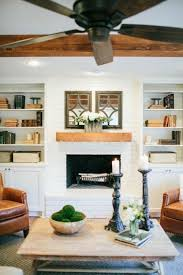 joanna gaines design book built ins with books and accessories above the mantel decor coffee