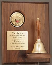 retirement plaques gold brass bell plaque 2g