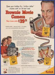 vintage 1953 kodak brownie movie camera projector art decor print