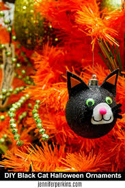 no tree is complete without diy black cat ornaments