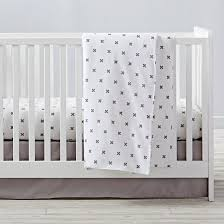 Flannel Crib Bedding Crisscross Flannel Crib Bedding And Duvet Cover The Land Of Nod
