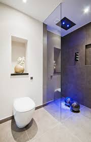 Ceramic Tile Bathroom Designs Ideas by Bathrooms Design Modern Luxury Bath Rainfall Shower Blue Neon