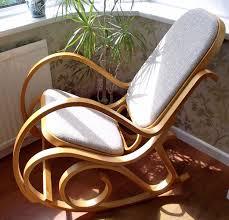 Rocking Chairs Uk New Bentwood Padded Seat Rocking Chair Birch Wood Thonet Living