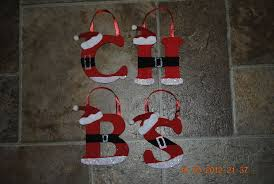 painted wooden santa ornaments all letters available