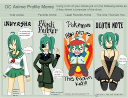 Meme Profile Pictures - oc anime profile meme done o3o by ihateloveitsucks on deviantart
