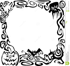 halloween background with border border almost clipart