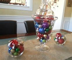 an easy centerpiece all you need are glass containers