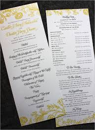 sle of wedding programs catholic wedding ceremony program template wedding