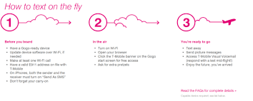 t mobile free inflight wifi t mobile gogo team up to offer free texting visual voicemail