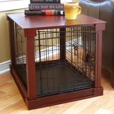 Dog Crate With Bathroom by Merry Products Deluxe Pet Crate In Brown U0026 Reviews Wayfair