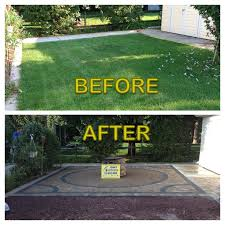 Small Paver Patio by Backyards Amazing Before And After Of Interlocking Paver Patio