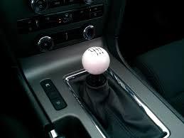 mustang 6 speed modern billet mustang retro style 6 speed shift knob white 41214