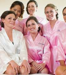 bridesmaid satin robes personalized satin robes monogrammed with names bridal
