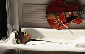 funeral casket chuck berry funeral sees thousands of fans pay their respects to