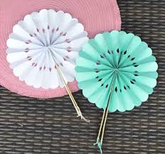 wedding paper fans rosette paper fans wholesale wedding favors