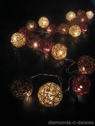 rattan ball fairy lights rattan ball string lights inspirate