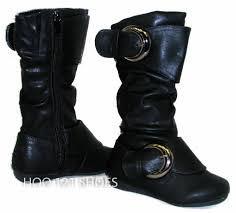 tall motorcycle boots sooo cute girls tall 2 buckle boots flat comfy casual kids shoes