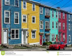 colorful row houses stock photography image 37363752
