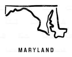 maryland map vector maryland map stock vector 864420004 istock