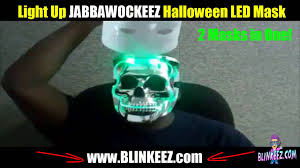 jabbawockeez light up led flashing dual halloween skull mask by