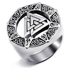 mens stainless steel rings elfasio mens stainless steel ring band valknut scandinavn odin