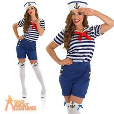sassy sailor costume french navy fancy dress womens