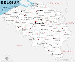 map of begium belgium cities map cities map of belgium