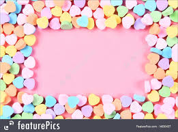 candy hearts picture of candy heart frame