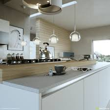 modern kitchen layout and beautiful lighting roohome designs