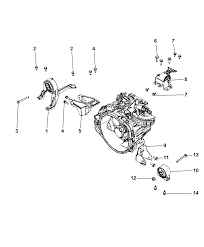 mounting support manual transmission for 2008 dodge caliber
