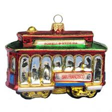 buy kurt adler glass san francisco cable car ornament in cheap