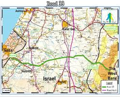 West Bank Map Palestine Road Link Between Gaza And The West Bank A