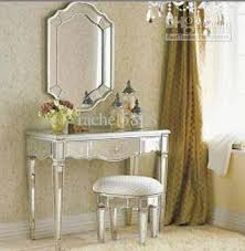 Glass Vanity Table With Mirror 2017 Mr Glass Mirrored Vanity Set From Rachel5818 295 04