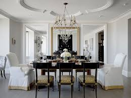 Mixed Dining Room Chairs Ceiling Baseboard Dining Room Traditional With Gold Mirror Gray Walls