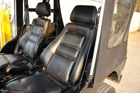 custom jeep seats ergonomic seats for jeeps team bhp