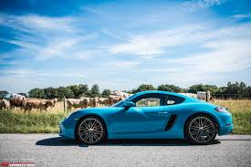 miami blue porsche boxster 2017 porsche 718 cayman review gtspirit