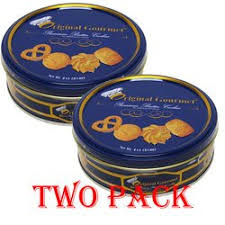 original gourmet style premium butter cookies tin 2 pack