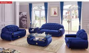 Dark Blue Loveseat Esf Furniture Giza Fabric Dark Blue Loveseat