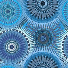 blue kaleidoscope wallpaper seamless blue pattern with oriental mandalas islam arabic asian