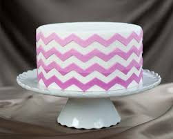Medium Chevron lay 3D Stencil for Cakes and Arts & Crafts
