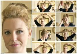 easy messy buns for shoulder length hair full top knot hairstyle for short thin hair somewhat simple