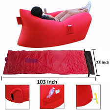 Blow Up Furniture by Air Lounger Parachute Material Made With Heavy Duty Waterproof