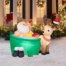 Amazon Outdoor Lighted Christmas Decorations by Amazon Com Christmas Decoration Lawn Yard Inflatable Santa Clause
